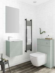 Pastels in the bathroom blog from Utopia Bathrooms. Fitted Bathroom, Brick Tiles, Decorative Tile, Traditional Bathroom, Spring Trends, Toilets, Bathroom Furniture, Soft Colors, Timeless Design