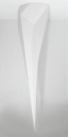 """Hanging Complex Form painted wood; 11' 6"""" x 3' 4"""" x 2' 11"""" (350.5 cm x 101.6 cm x 88.9 cm); ; 1989"""