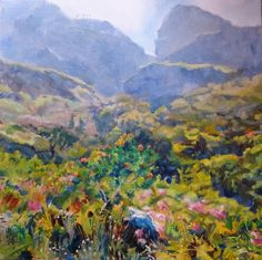 Simonsberg #1 (2014) Oil on canvas (750 x 750) #RosKochArt