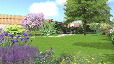 Zahrada u vily z počátku 20. století - Letem květem #flowergarden #garden #familygarden #landscapearchitect  #praque #zahradniarchitekt #praha #zahrada #moderngarden #rodinnazahrada #czechgarden #letemkvetem #mywork Golf Courses, Sidewalk, Praha, Plants, Side Walkway, Walkway, Plant, Walkways, Planets