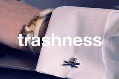 trashnessx:    skull cufflinks
