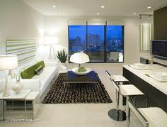 zen, small, living room, minimalistic