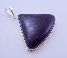 free shipping F-278 Stunning Black Jasper .925 Silver Handmade Pendant Jewelry 26 Gr. by SILVERHUT on Etsy