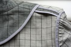 Learn to sew a bias bound seam step by step!
