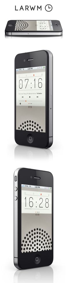 LARWM - DIETER RAMS inspired simple alarm clock
