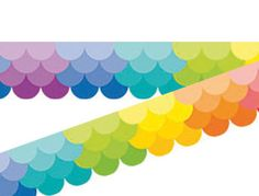 Ombre Rainbow Scallops Border | Early Years | Classroom Resources | Class Ideas - Class Ideas Classroom Borders, Bulletin Board Borders, Early Years Classroom, Classroom Resources, Scallops, Rainbow, Ideas, Rain Bow, Seared Scallops