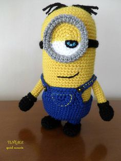 Crocheted Yellow Minion Stuffed Toy Minion Stuart Minion