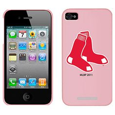 Coveroo Boston Red Sox Sock Design on a pink Thinshield for the iPhone 4/4S $29.95