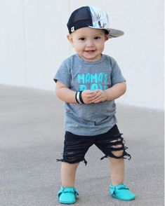 Mama's Boy Infant or Toddler T-shirt , kids, boys. boy mom, infant, toddler Kids Mama's Boy Infant or Toddler T-shirt top teal and grey or Custom Colors availableKids Mama's Boy Infant or Toddler T-shirt top teal and grey or Custom Colors available Cute Baby Boy, Baby Boy Suit, Baby Boy Dress, Toddler Boy Fashion, Little Boy Fashion, Toddler Boy Outfits, Boys Summer Outfits, Kids Outfits, Trendy Baby Clothes