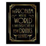 Gatsby Art Deco DRINKING QUOTE Sign Print #weddinginspiration #wedding #weddinginvitions #weddingideas #bride