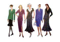 "Vintage Vogue Women's Top and Skirt Misses' Size 12, 14, 16 Bust 34, 36, 38"" Vogue 1210 Sewing Pattern Uncut"