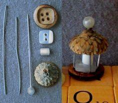Miniature acorn top lantern (DIY)