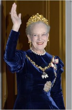 Queen Margrethe of Denmark wearing Greenland's gift, the Naasut Tiara, for the first time at the 2013 New Year's Court Banquet.