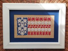 KBB Crafts & Stitches: Seaside Stars & Stripes Cross-Stitch Picture