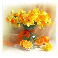 Round Diamond mosaic yellow flower oranage Diamond Embroidery flower diy