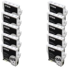 N 10PK T1590 Compatible Ink Cartridge For Epson R2000