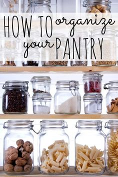 How to Organize Your Pantry via Tipsaholic.com