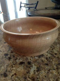 Curly Maple Wood Bowl