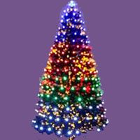 Pre Lit Palm Artificial Christmas Tree With Clear Lights, Greens | Christmas  Tree And Christmas Decor
