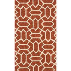 Handmade Indoor/ Outdoor Capri Rust Rug (2'3 x 3'9)  Today $48.99