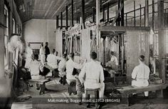 Mat-making at the Male Prison, Boggo Road, circa 1912.