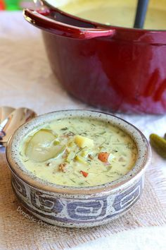 Cream of Dill Pickle Soup