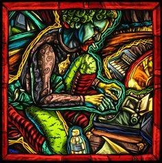 painted stained glass by Peter McGrain