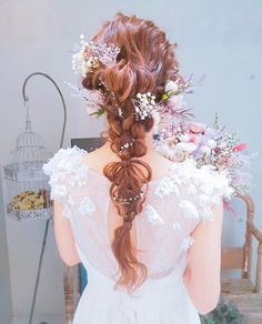 20 stunning wedding hairstyles ideas – My hair and beauty Wedding Hair Flowers, Flowers In Hair, Wedding Dresses, Bride Hairstyles, Hair Designs, Bridal Accessories, Wedding Makeup, Bridal Hair, My Hair