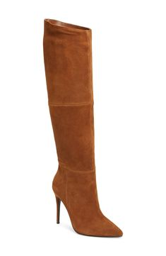 Women's Steve Madden Dakota Knee High Boot, Size 11 M - Brown Cute Womens Shoes, Womens Shoes Wedges, New Balance, Tan Knee High Boots, Womens Training Shoes, Sneaker Boots, Luxury Shoes, Suede Boots, Lady