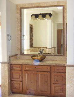 Recent Guest Bathroom Design and Install in New Scottsdale Home using Bridgewood Cabinets