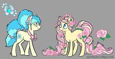 #908889 - artist:egophiliac, birthmonth ponies, g3, g3 to g4, june blossom, june rose, safe - Derpibooru - My Little Pony: Friendship is Magic Imageboard