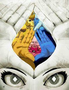 Pink Diamond, Blue Diamond, Yellow Diamond and White Diamond Steven Universe Anime, Steven Universe Wallpaper, Steven Universe Drawing, Steven Universe Funny, Universe Art, Cartoon Network, White Diamond Steven Universe, Steven Univese, Fandoms