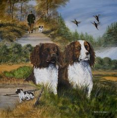 Spaniels used in hunting fowl Evans Art, Twelfth Night, Story Setting, Spaniels, A Christmas Story, White Man, Storyboard, Hunting, Moose Art