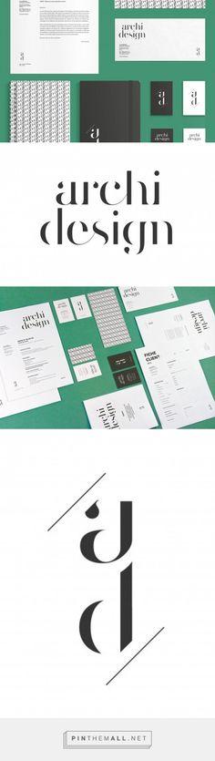 Identité visuelle d'Archi Design, architecte d'intérieur                                                                                                                                                     Plus