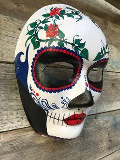 Catrina MaskDay of the Dead Mask Mask Painting, Body Painting, Holi Poster, Party Face Masks, Ceramic Mask, Mask Drawing, Carnival Makeup, Cool Masks, Venetian Masks