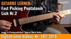 ✪ GITARRE LERNEN: Fast Picking Pentatonik Rock Lick Nr.2