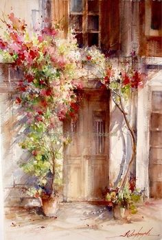 Fábio Cembranelli - Superb Artist especially is old building details and fabulous flower painting. This is one of the most talented watercolour artists I would like to participate at one of his workshops !