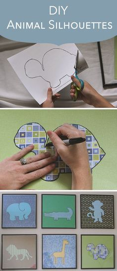 DIY Animal Silhouette Pictures - http://centophobe.com/diy-animal-silhouette-pictures/ -