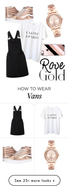 """""""rose gold"""" by martynowm on Polyvore featuring Vans, Casetify, Michael Kors and Lipsy"""