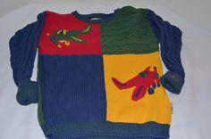 Gymboree Airplane Plane Vintage Sweater Boy's 6 | eBay