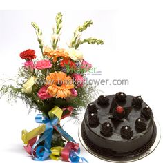 Midnight Gift Of Love Buy Flowers Online Cake Send Cakes To India