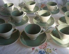 Harkerware Sage Green Tea Set