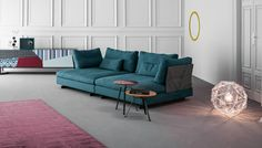 Sofa Gossip, design Sergio Bicego / Sideboard Doppler, design Giuseppe Vigano / Coffee Tables Tie, design Mauro Lipparini www.bonaldo.it