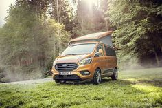 The Westfalia Ford Nugget camper van has gotten a fresh lease on life thanks to the newly updated Transit Custom van that serves as its base. Come spring, the Nugget will be offered directly through Ford dealerships in select European markets. Camping, Ford Nugget, Ford Transit Custom, Volkswagen, Up Auto, Cars Uk, Custom Vans, Commercial Vehicle, Tiny House On Wheels