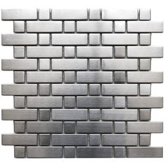 Brick and Square Pattern Stainless Steel Mosaic Tile, Sample - contemporary - tile - Eden Mosaic Tile Mosaic Tile Sheets, Glass Mosaic Tiles, Contemporary Kitchen Tiles, Stainless Steel Kitchen, Square, Kitchen Backsplash, Stainless Backsplash, Mosaic Backsplash, Tile Patterns