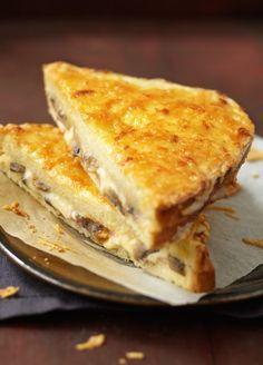 Croque-monsieur au Bello Gratino, champignons, jambon blanc et cresson