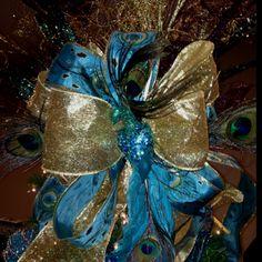 My peacock design on the Christmas tree