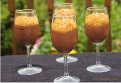Chocolate Mousse with Honeycomb recipe, like a sunshine in a glass. Crunchy but smooth at the same time. This will impress anyone - lovely recipe.