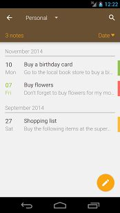 Note list is the elegant notepad for your mobile devices.