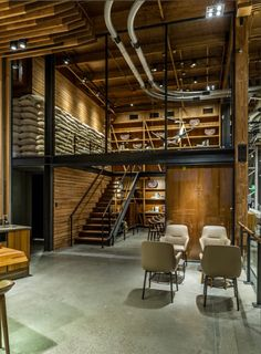 Starbucks Reserve Roastery and Tasting Room Reimagines the Coffeehouse Experience Coffee Shop Bar, Coffee Store, Coffee Shop Design, Brewery Design, Cafe Design, Restaurant Design, Modern Restaurant, Starbucks Shop, Starbucks Reserve